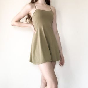 Army Green Forever 21 Dress